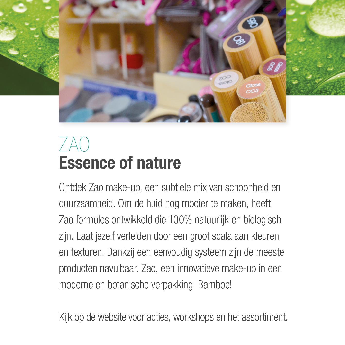 Zao, essence 100% natuurlijk & biologisch