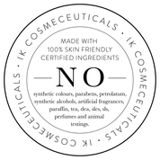 NO made with 100% skin friendly certified ingredients